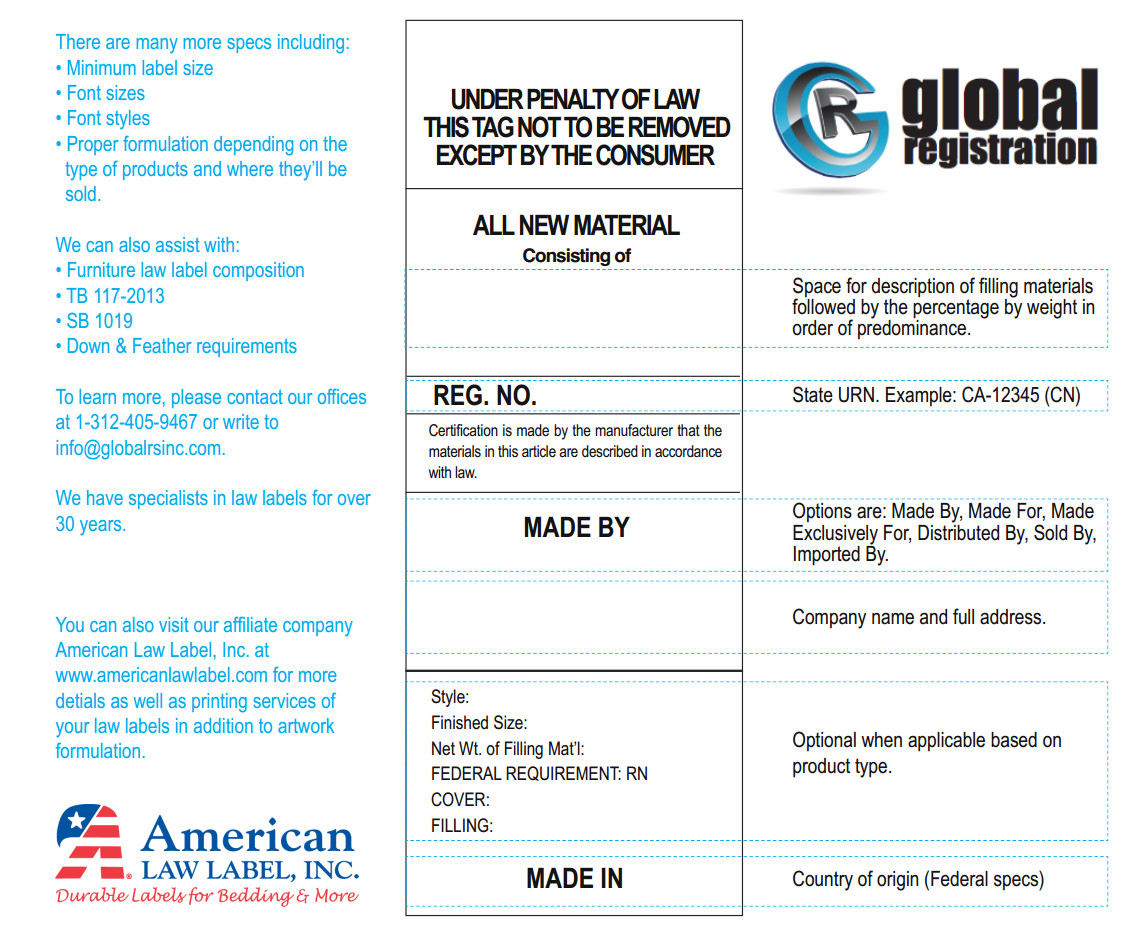 Anatomy Of A Law Label Global Registration Services Inc